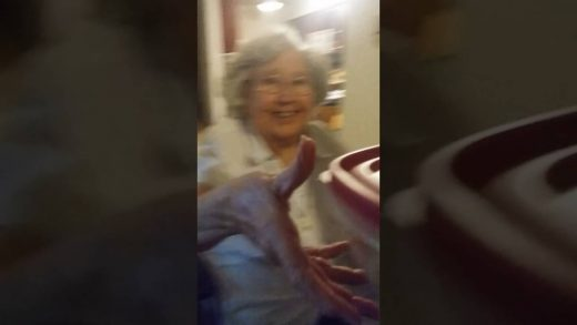 Scare-prank-on-grandma-TRYED-TO-CHOKE-ME-2016